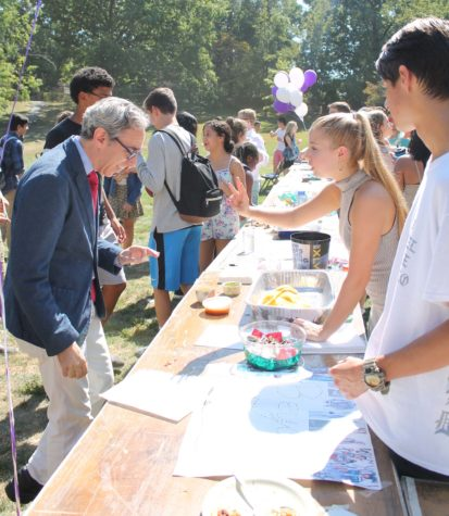 Students and teachers checked out the many and diverse offerings at this year's Club Fair.