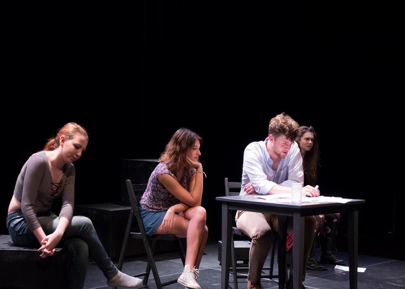 The annual spring shorts feature three one-act plays, produced by Masters students.