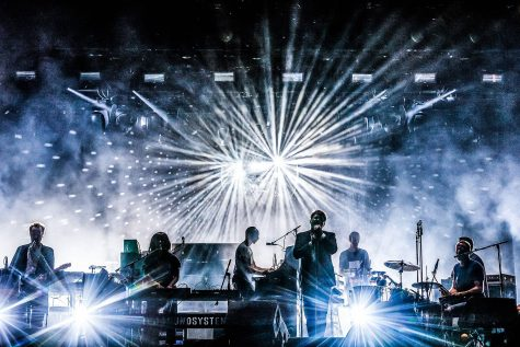 LCD Soundsystem performs at the Lowlands Festival