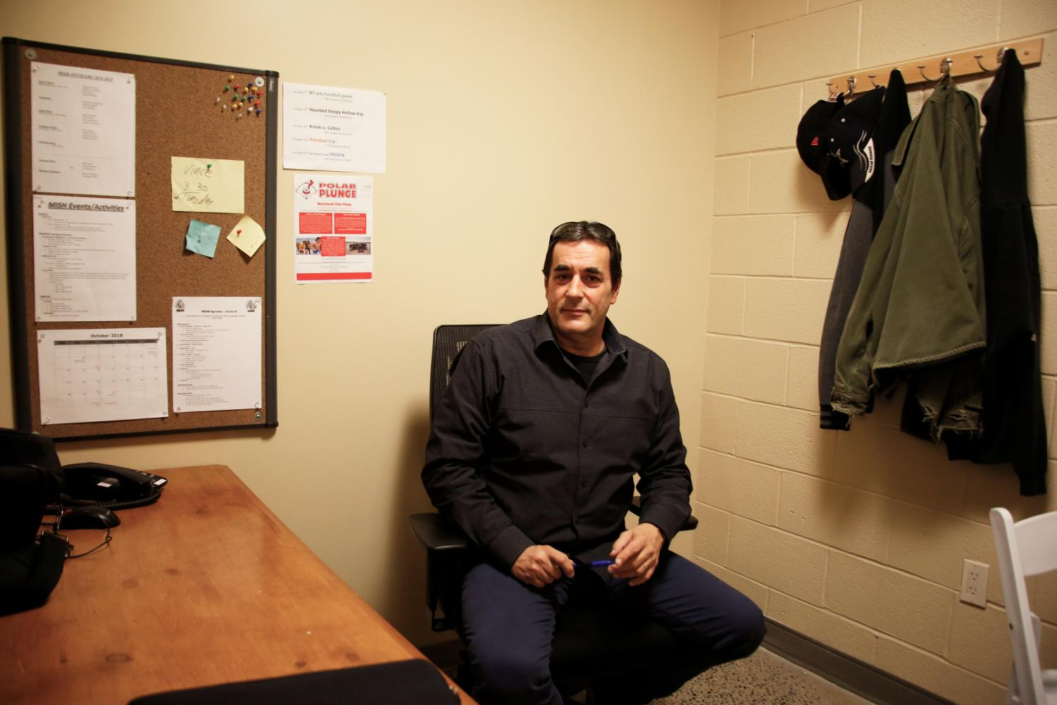 DiDonato sits in an office.