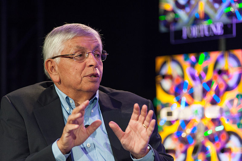 David Stern speaking at a conference in 2012.  Stern served as commissioner of the NBA from 1984-2014.