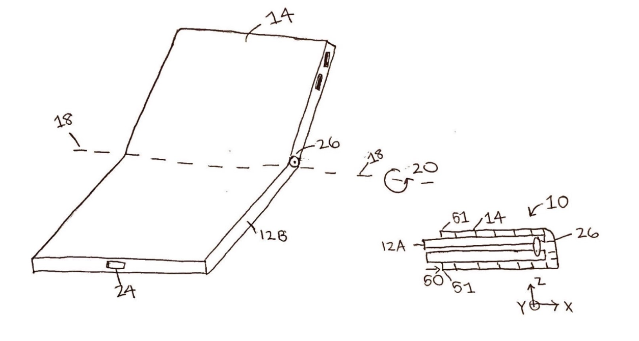 Example Patent of a Folding Phone