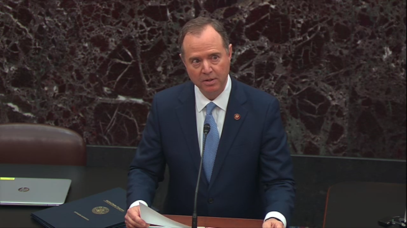 Lead Impeachment Manager Adam Schiff reads the Articles of Impeachment against President Donald Trump before the Senate.