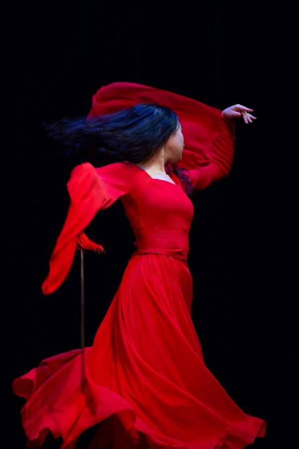 Zhang, pictured above, was impressed by her initial impression of MUSE. Zhang was struck by how professional she thought the dances looked. While choreographing her own piece, Zhang said that she reached out to other club members for advice. Zhang's dance background is in tap and Chinese traditional dance. Her aim was to have fun during the dance. Zhang, who's from China, said dancing relaxes her and allows her to feel involved with her own culture.