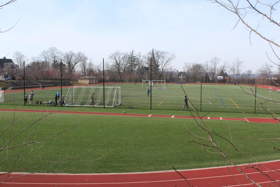 Greene Family field is home to Masters' lacrosse and track teams.