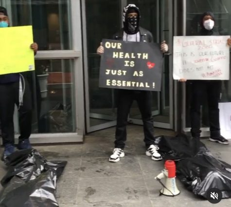 A small group of Amazon employees protested at the JFK Amazon Fulfillment Warehouse in Staten Island in March, led by their then supervisor, Chris Smalls, to protest what he said were unsafe working conditions in the face of the COVID 19 pandemic. Smalls was fired two hours later.
