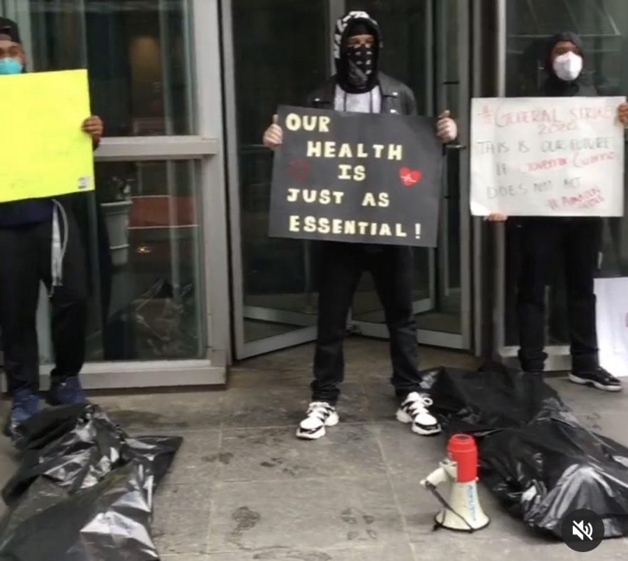 A+small+group+of+Amazon+employees+protested+at+the+JFK+Amazon+Fulfillment+Warehouse+in+Staten+Island+in+March%2C+led+by+their+then+supervisor%2C+Chris+Smalls%2C+to+protest+what+he+said+were+unsafe+working+conditions+in+the+face+of+the+COVID+19+pandemic.+Smalls+was+fired+two+hours+later.