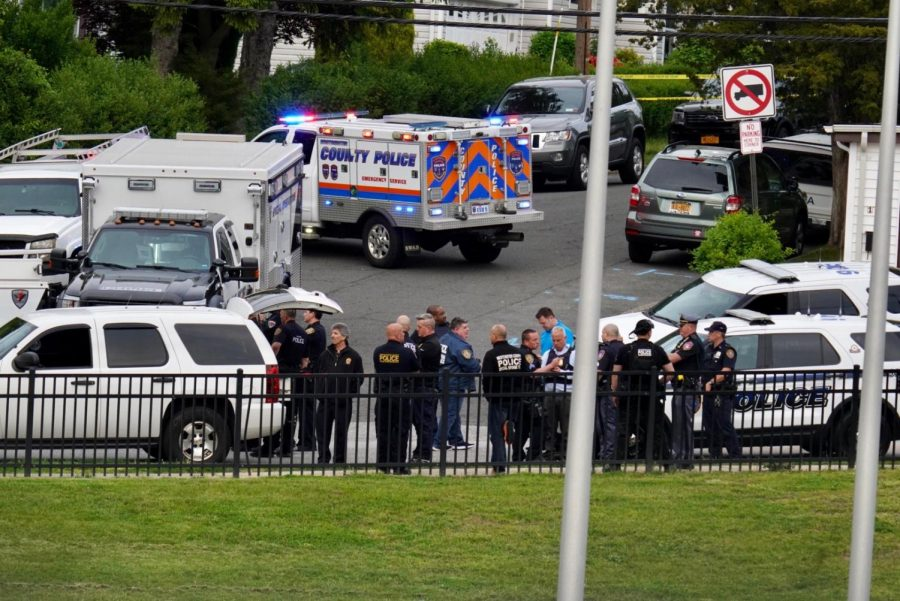 """SWAT teams from across Westchester county respond to a call from a Dobbs Ferry residence on Myrtle Ave. The call turned out to be a """"swatting"""", or prank call, incident, per police."""