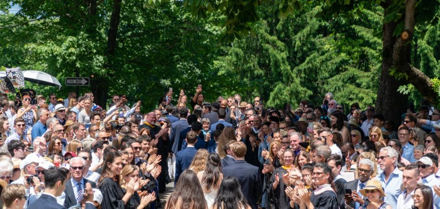 A photo capturing graduation for the Class of 2019. In light of the COVID-19 pandemic, graduation will be held online in June and an in person ceremony is scheduled for mid-August.