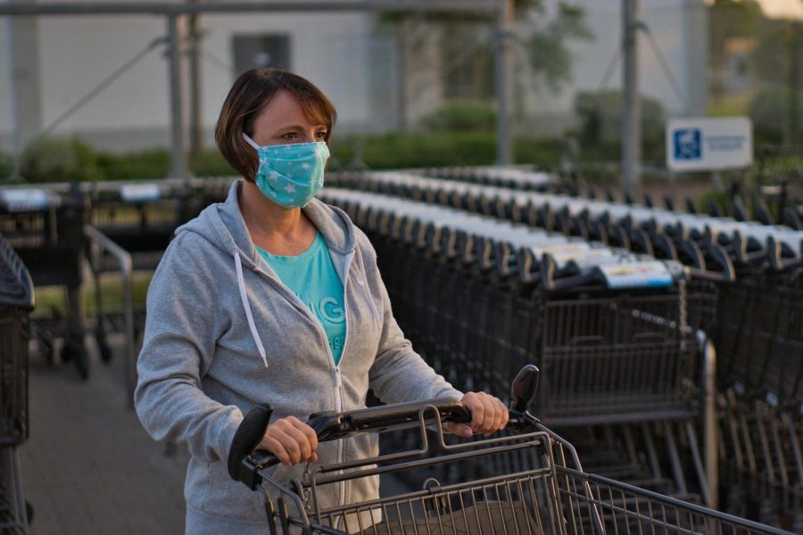 Many are choosing to go grocery shopping over ordering in food or pick-up options. Supermarkets admit small numbers of people inside at a time to ensure social distancing between shoppers. In NYS, it is now required by law to wear a face mask in public.