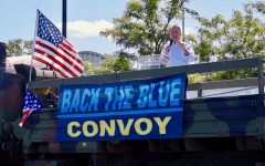 Former Westchester County Executive and candidate for New York State Senate Rob Astorino speaks at a Back the Blue Rally in Tarrytown on Sept. 12. The rally and ensuing convoy drew a crowd of a few hundred.