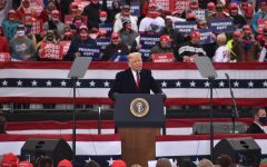President Donald Trump addresses a crowd of thousands of supporters at a Make America Great Again Rally on Oct. 31. The stop in Reading, Pennsylvania was one of four Trump made across the commonwealth on Saturday as he looks to make a final push for reelection. Tower's Logan Schiciano and contributor Hanna Schiciano attended the rally as journalists and spoke with supporters on the presidents first-term successes and hopes for a potential second term.