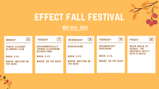 News Brief: EFFECT announces Fall Festival