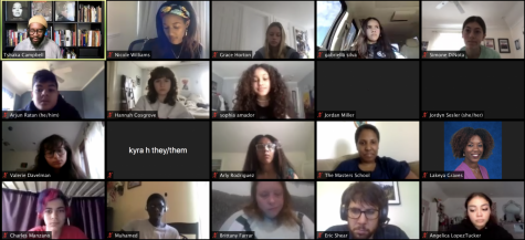 A screenshot of the fourth annual Saturday Summit on Social Justice, hosted by The Masters School and Rye Country Day. The summit fostered conversations about racial justice, gender and sexuality, and took place over Zoom.