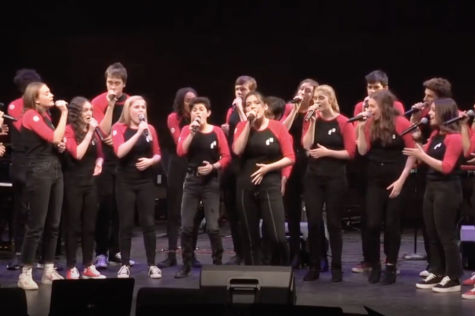 Members of Masters competitive a capella group Dobbs 16 perform at the Winterlight Concert in December 2019. The group was hit hard by COVID-19-related restrictions this fall, but found ways to adapt.