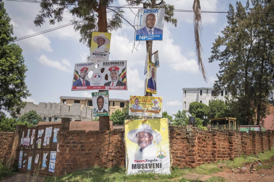 "WEEKS AFTER UGANDA'S JAN. 14 election, campaign posters still promote the candidates that ran for office. Ugandan President Yoweri Museveni has held his position in office for 34 years. He has faced with his first serious challenger, a 38-year-old rapper from the slums who goes by ""Bobi Wine,"" who is particularly popular among young people."