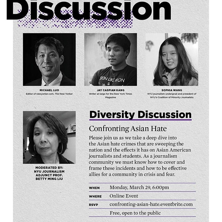 News Brief: NYU Journalism School hosts discussion on confronting recent anti-asian hate