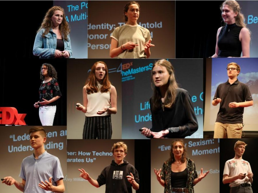 Past photos of TEDx Student Speakers who performed live in front of the Masters Community over the last five years .