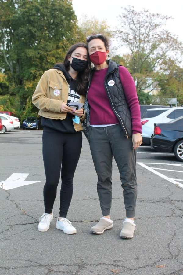 Local voters stand outside Dobbs Ferry Village Hall on Saturday, Oct. 24, which was the first day of early voting for the Nov. 4, 2020 elections.