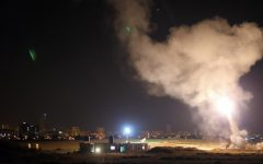 The Israeli Defense Force's Iron Dome system intercepts Gaza rockets aimed at central Israel. In recent days, Hamas has fired over 1,000 rockets toward Israel; the IDF has also launched airstrikes on Gaza, killing over 50 Palestinians. As tension escalates in Israel, individuals around the world are taking to social media to voice their opinions on the conflict.