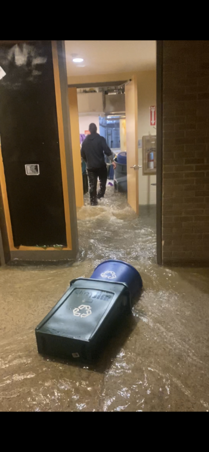 On the night of Sept. 1, the first floor of the Fonseca Center suffered severe flooding, damaging the fencing and dance studios, various classrooms and faculty offices. Since then, the Maintenance Department has been clearing and repairing the damage.